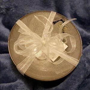 AKCAM Silver Glittery Turkish Glass Bowls